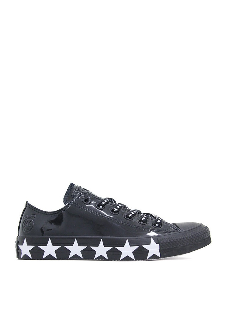 Chuck taylor all star low top faux patent CONVERSE negro