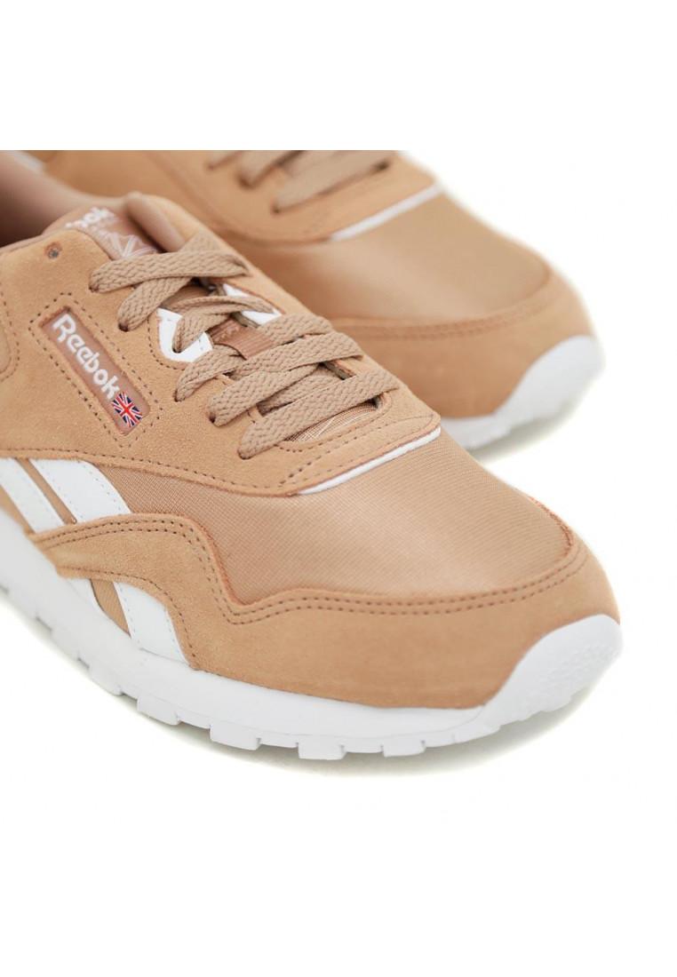 reebok-cl-nylon-marrón